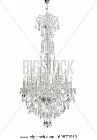 Luxury Glass Chandelier isolated - clipping path included