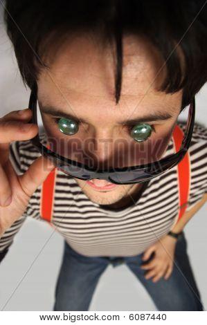 Glass eyed boy