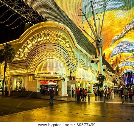 People At Golden Nugget Hotel And Casino In Downtown Las Vegas