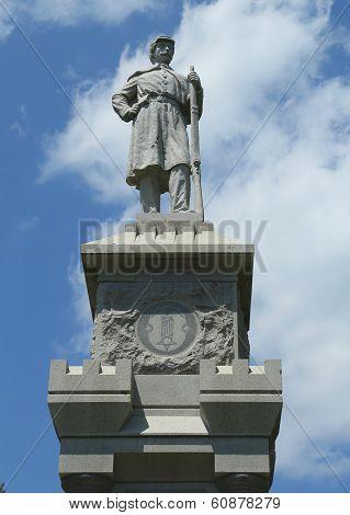Civil War Memorial in historic Bar Harbor, Maine