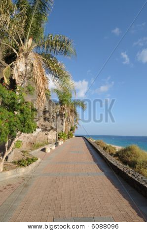 Promenade In Morro Jable, Fuerteventura Spain