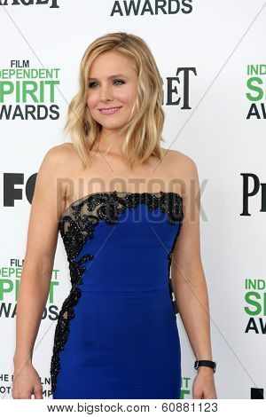 LOS ANGELES - MAR 1:  Kristen Bell at the Film Independent Spirit Awards at Tent on the Beach on March 1, 2014 in Santa Monica, CA