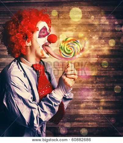 Scary Circus Clown At Horror Birthday Party