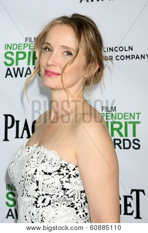 LOS ANGELES - JAN 11: Julie Delpy at the 2014 Film Independent Spirit Awards Nominee Brunch at Boa on January 11, 2014 in West Hollywood, CA