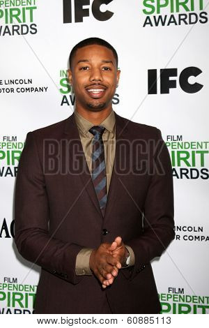 LOS ANGELES - JAN 11:  Michael B. Jordan at the 2014 Film Independent Spirit Awards Nominee Brunch at Boa on January 11, 2014 in West Hollywood, CA