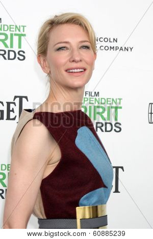 LOS ANGELES - MAR 1:  Cate Blanchett at the Film Independent Spirit Awards at Tent on the Beach on March 1, 2014 in Santa Monica, CA