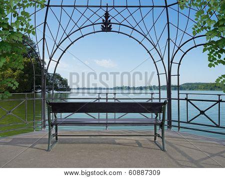 idyllic lakeside pavilion