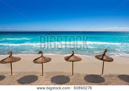 Menorca Platja Sant Tomas in Es Mitjorn Gran at Balearic islands of Spain