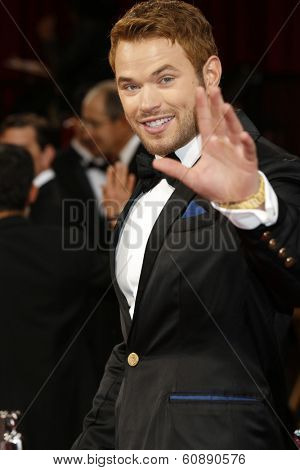 LOS ANGELES - MAR 2:  Kellan Lutz at the 86th Academy Awards at Dolby Theater, Hollywood & Highland on March 2, 2014 in Los Angeles, CA