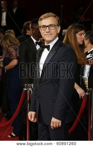 LOS ANGELES - MAR 2:  Christoph Waltz at the 86th Academy Awards at Dolby Theater, Hollywood & Highland on March 2, 2014 in Los Angeles, CA
