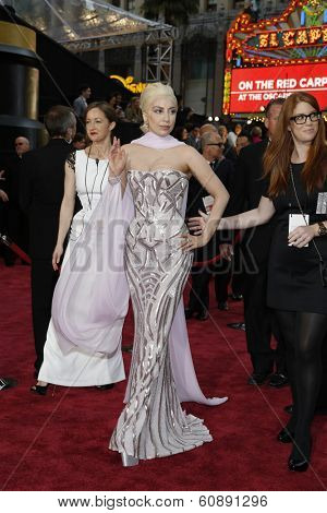 LOS ANGELES - MAR 2:  Lady Gaga at the 86th Academy Awards at Dolby Theater, Hollywood & Highland on March 2, 2014 in Los Angeles, CA