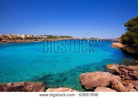 Ibiza Port des Torrent near San Antonio beach in Balearic Islands Spain