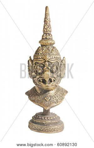 statue of an evil deity, isolated on white background