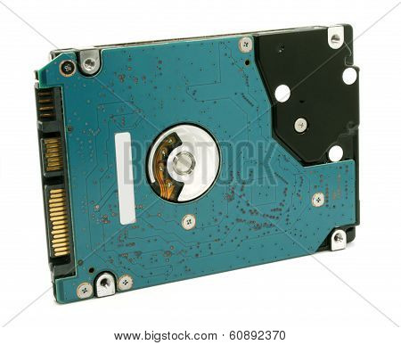 Hard Drive On White Background