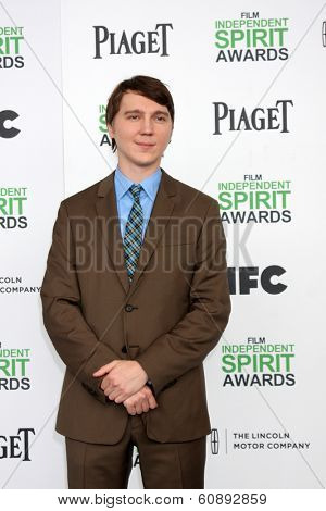 LOS ANGELES - MAR 1:  Paul Dano at the Film Independent Spirit Awards at Tent on the Beach on March 1, 2014 in Santa Monica, CA