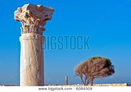 ancient column at Kourion, Cyprus