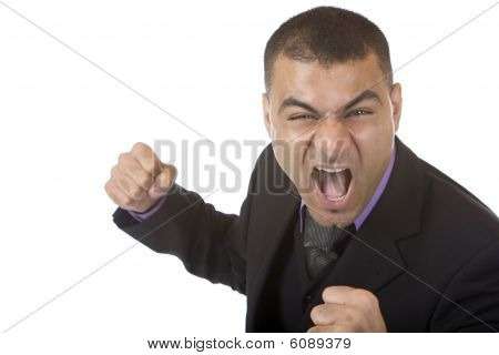 Businessman Is Angry