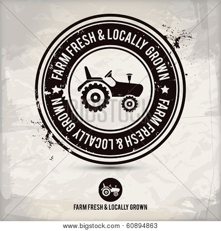 Alternative Farm Fresh & Locally Grown Stamp