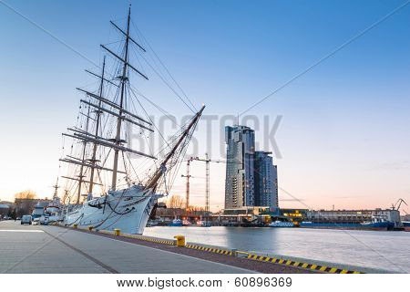 GDYNIA, POLAND - FEB 17:Polish maritime museum ship