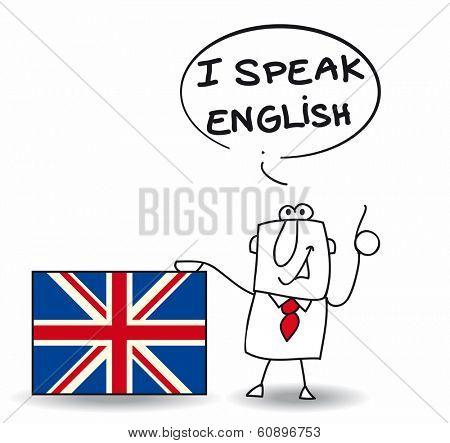 This man speak fluently english.