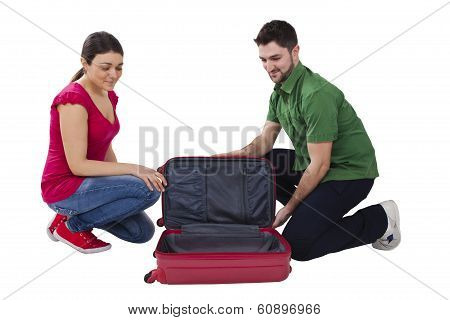 Man And Woman Travelers