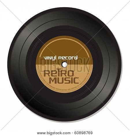 Retro music vinyl record