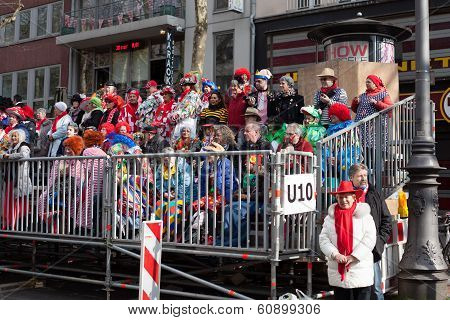 Spectators Of A Carnival Parade