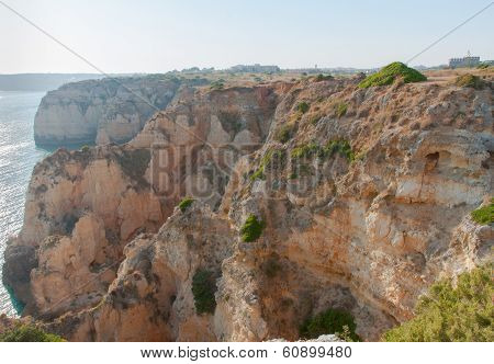 Sunny cliffs at Lagos, Portugal