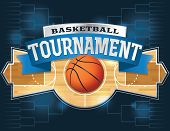 foto of basketball  - A vector illustration of a basketball tournament concept - JPG
