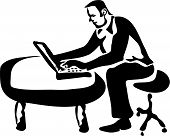 Laptop Worker poster