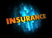Insurance. Digital Background.