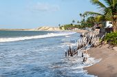 pic of natal  - Beach at high tide Pititinga Natal  - JPG
