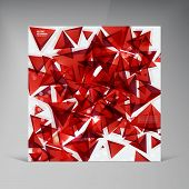 Vector squares. Abstract background red