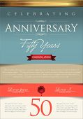 stock photo of 50s  - Anniversary certificate template - JPG