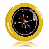 picture of wind-rose  - Golden vector compass with wind rose - JPG