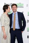 LOS ANGELES - MAR 1:  Katie Aselton, Mark Duplass at the Film Independent Spirit Awards at Tent on t