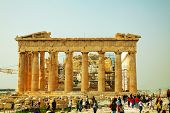 Parthenon At Acropolis In Athens, Greece