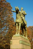 stock photo of bolivar  - Monument to Simon Bolivar South American political leader in Paris France - JPG