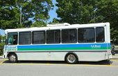Island Explorer Bus in Bar Harbor, Maine