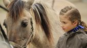 foto of horse-breeding  - Horse and lovely girl  - JPG