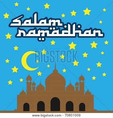 Salam Ramadhan Vector Wish Card