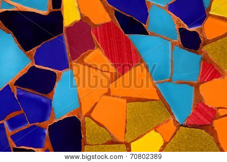 Photo Of Ceramic Mosaic Pattern Made In The Summer Time In Spain, 2014