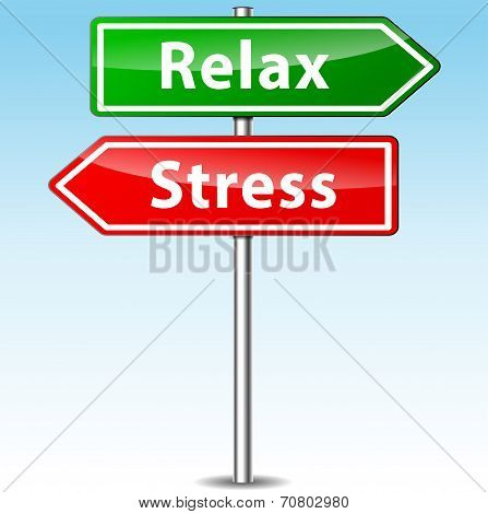 Stress And Relax Directions Concept