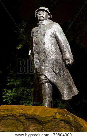 Georges Clemenceau Statue In Paris