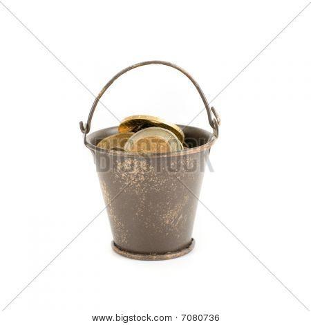 Bucket Full Of Coins