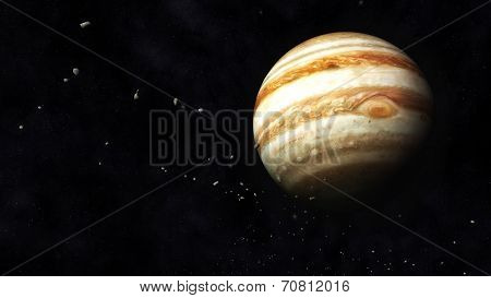 Jupiter And Asteroids