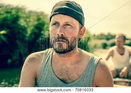 Male Sailor With A Beard