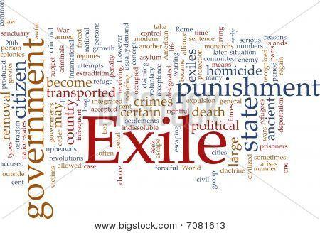 Exile Word Cloud