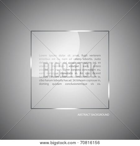 Abstract Vector Background With A Glass Panel With Copy Space.