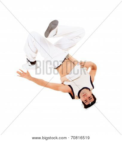 Man Dancing Break Dance In Action